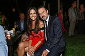 Christina McLarty and actor David Arquette attend the Vintage Hollywood Fundraiser for Ocean Park Community Center on June 13 2015 in Los Angeles...