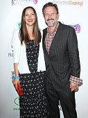 Christina McLarty and David Arquette arrive at The Imagine Ball held at House of Blues Sunset Strip on August 6 2014 in West Hollywood California