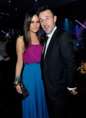Christina McLarty and David Arquette attend the 1 OAK Las Vegas grand opening at The Mirage Hotel Casino on January 27 2012 in Las Vegas Nevada