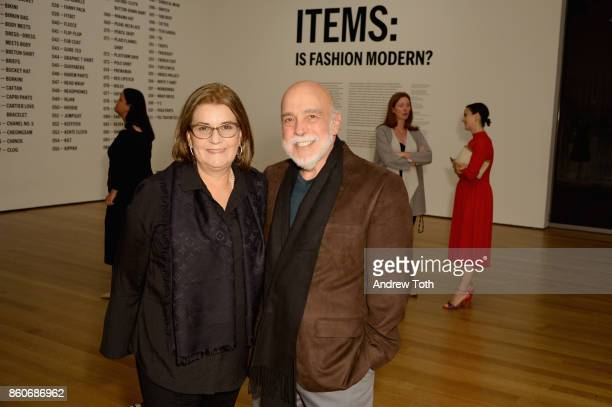 Christina Mendoza and Arnaldo Capriles attend as Harper's BAZAAR and THE OUTNETCOM Celebrate the opening of MoMA's Fashion Exhibit 'Is Fashion...