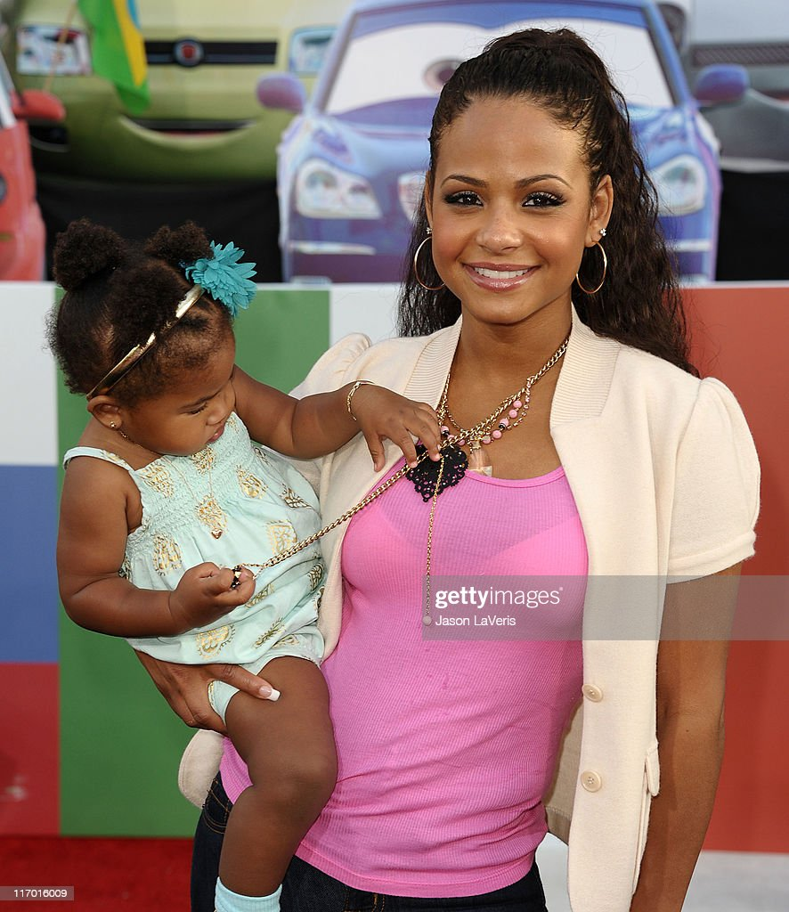 <a gi-track='captionPersonalityLinkClicked' href=/galleries/search?phrase=Christina+Milian&family=editorial&specificpeople=171274 ng-click='$event.stopPropagation()'>Christina Milian</a> and daughter Violet Nash attend the premiere of Disney/Pixar's 'Cars 2' at the El Capitan Theatre on June 18, 2011 in Hollywood, California.