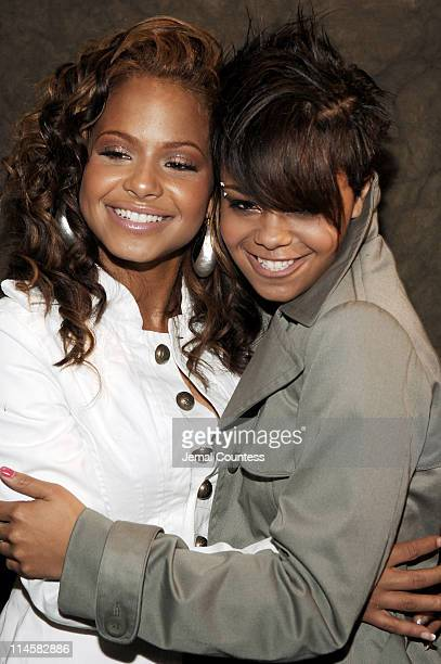 Christina Milian and Fefe Dobson during Teen People Present 'Best of Fall 2006' at Industria in New York City New York United States