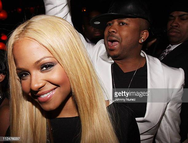 Christina Milian and The Dream attend The Dream's black tie album release party for 'Love Vs Money' at the Hiro Ballroom on March 11 2009 in New York...