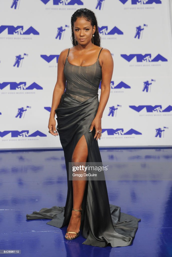Christina Milian arrives at the 2017 MTV Video Music Awards at The Forum on August 27, 2017 in Inglewood, California.