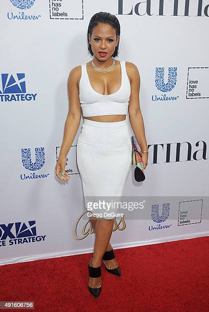 Christina Milian arrives at the Latina 'Hot List' Party at The London West Hollywood on October 6 2015 in West Hollywood California