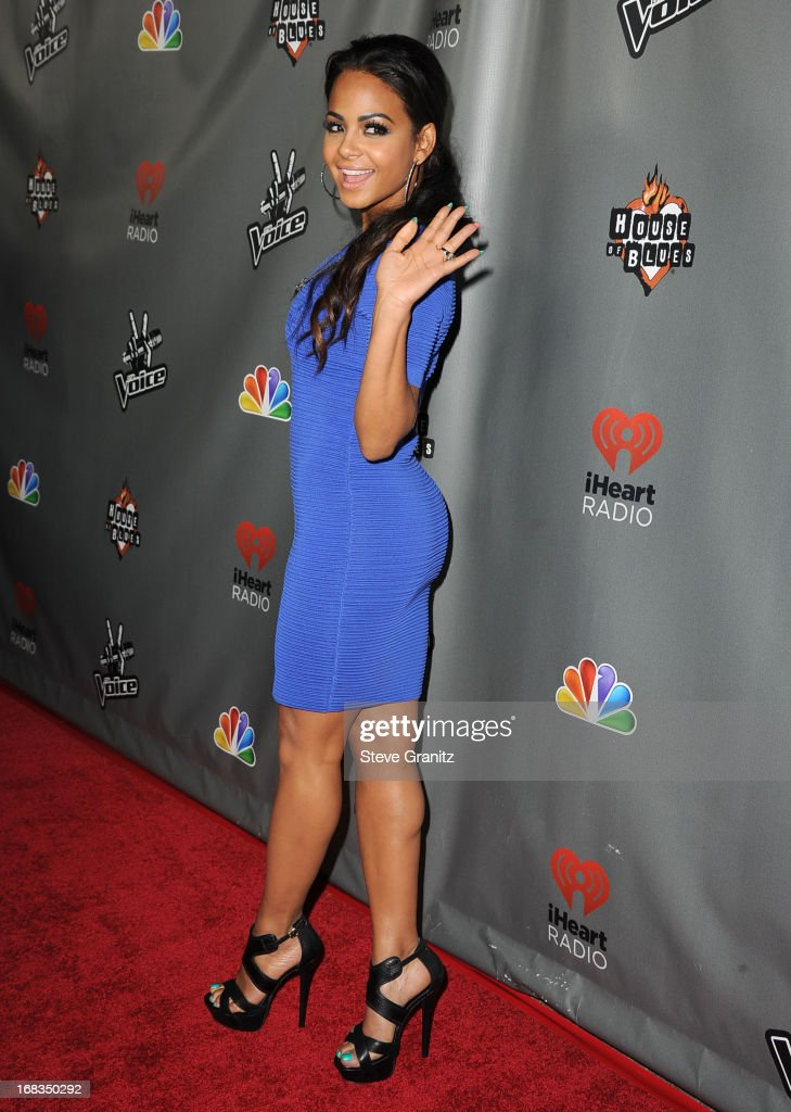 <a gi-track='captionPersonalityLinkClicked' href=/galleries/search?phrase=Christina+Milian&family=editorial&specificpeople=171274 ng-click='$event.stopPropagation()'>Christina Milian</a> arrives at the NBC's 'The Voice' Season 4 Premiere at House of Blues Sunset Strip on May 8, 2013 in West Hollywood, California.