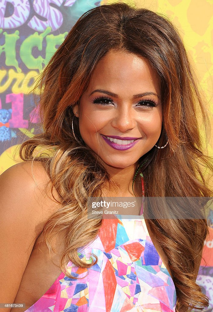 Christina Milian arrives at the Nickelodeon's 27th Annual Kids' Choice Awards at USC Galen Center on March 29, 2014 in Los Angeles, California.