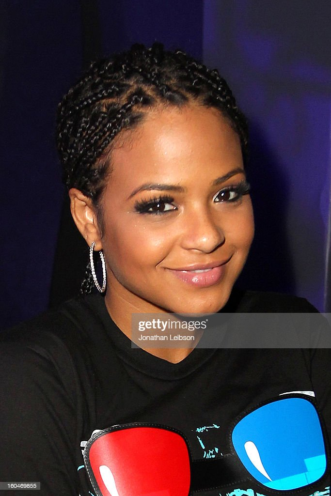 Christina Milian at the SkyBlu 'Pop Bottles' Single Release Party at Lure on January 31, 2013 in Hollywood, California.