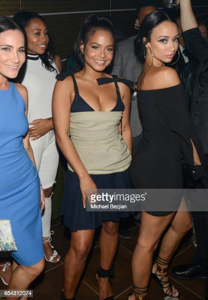 Christina Milian attends day one of TAO Beauty Essex Avenue Luchini LA Grand Opening on March 16 2017 in Los Angeles California
