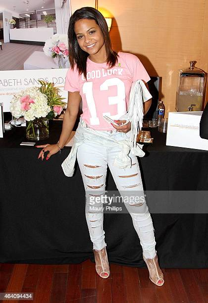 Christina Milian attends GBK 2015 PreOscar Awards Luxury Gift Lounge on February 21 2015 in Los Angeles California