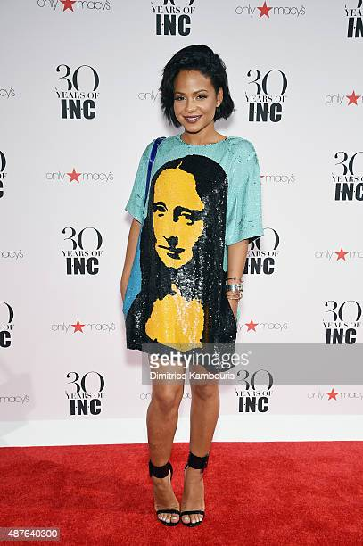 Christina Milian attends Heidi Klum Gabriel Aubry's celebration of the launch of INC's 30th Anniversary Collection at IAC Building on September 10...