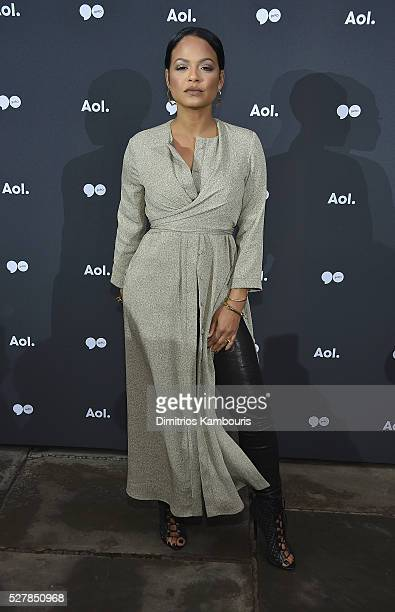 Christina Milian attends the AOL NewFront 2016 at Seaport District NYC on May 3 2016 in New York City
