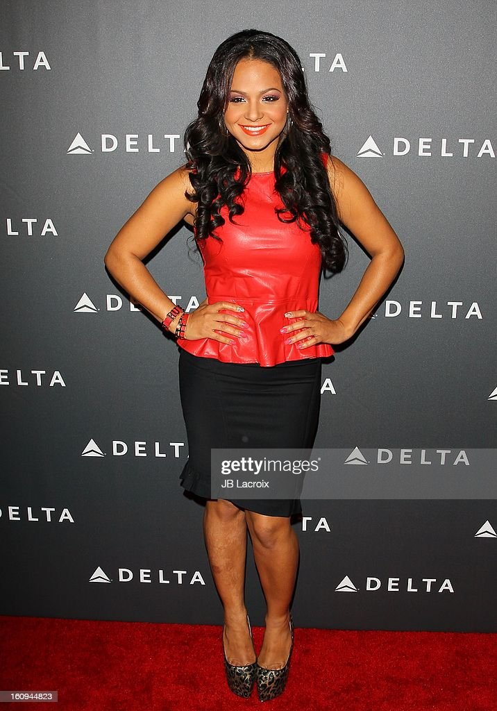 <a gi-track='captionPersonalityLinkClicked' href=/galleries/search?phrase=Christina+Milian&family=editorial&specificpeople=171274 ng-click='$event.stopPropagation()'>Christina Milian</a> attends the Delta Airlines GRAMMY Week LA Music Industry held at The Getty House on February 7, 2013 in Los Angeles, California.