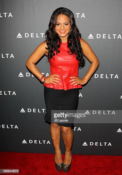 Christina Milian attends the Delta Airlines GRAMMY Week LA Music Industry held at The Getty House on February 7 2013 in Los Angeles California