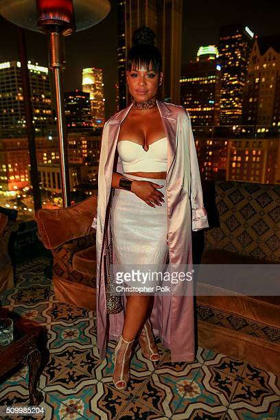 Christina Milian attends the DNCE performance at MasterCard and Westwood One present DNCE and Audien at Perch Los Angeles on February 12 2016 in Los...