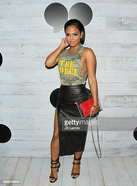 Christina Milian attends the go90 Sneak Peek held at the Wallis Annenberg Center for the Performing Art on September 24 2015 in Beverly Hills...