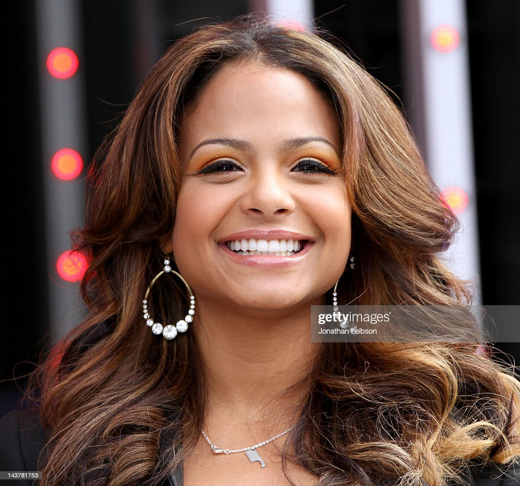 Christina Milian attends the NBC's 'The Voice' Final 4 Artists Concert at 5 Towers Outdoor Concert Arena on May 3 2012 in Universal City California