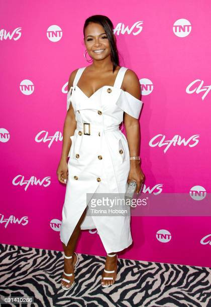 Christina Milian attends the premiere of TNT's 'Claws' at Harmony Gold Theatre on June 1 2017 in Los Angeles California