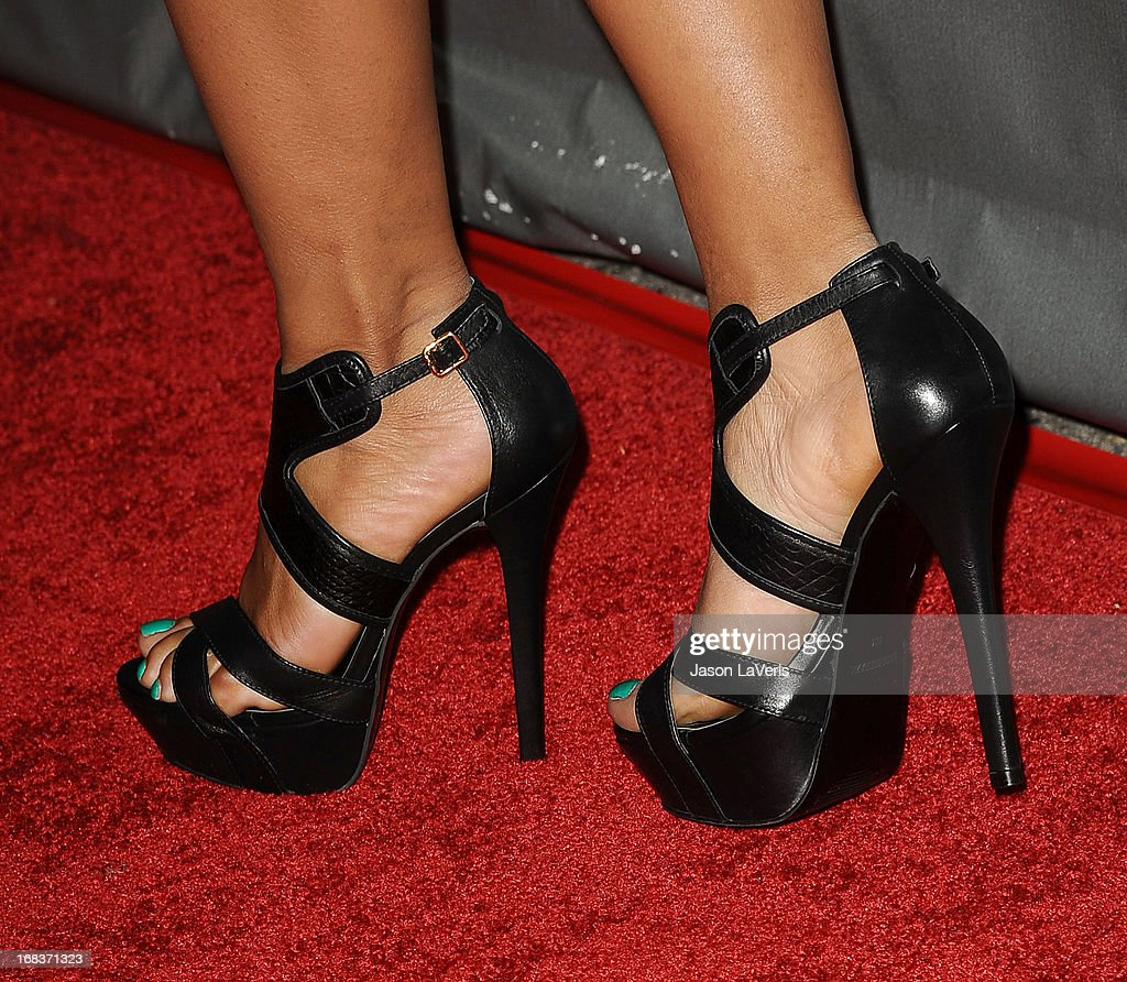 Christina Milian (shoe detail) attends 'The Voice' season 4 premiere at House of Blues Sunset Strip on May 8, 2013 in West Hollywood, California.