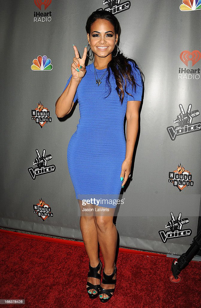 Christina Milian attends 'The Voice' season 4 premiere at House of Blues Sunset Strip on May 8, 2013 in West Hollywood, California.