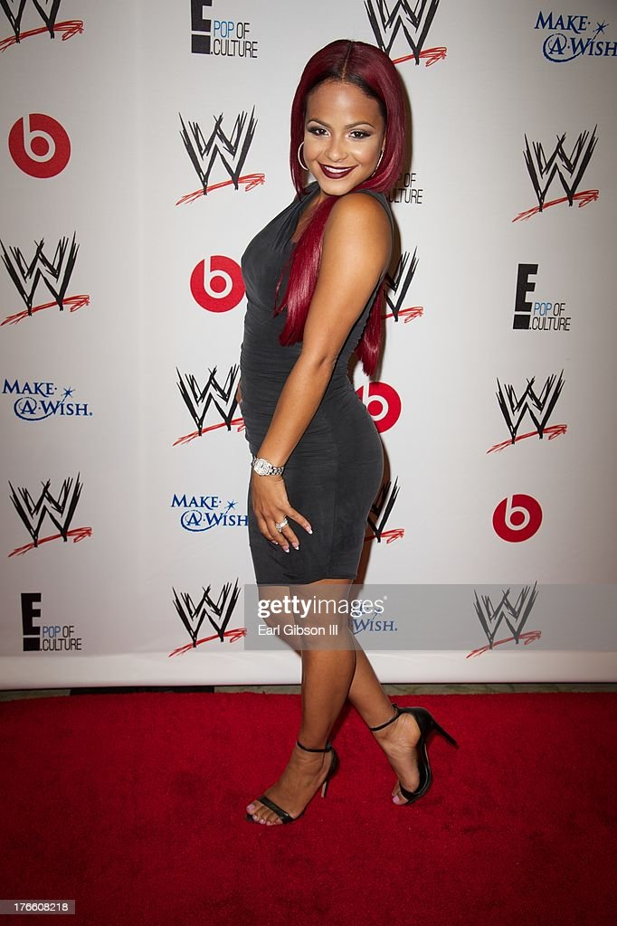 Christina Milian attends the WWE SummerSlam VIP Party at Beverly Hills Hotel on August 15, 2013 in Beverly Hills, California.