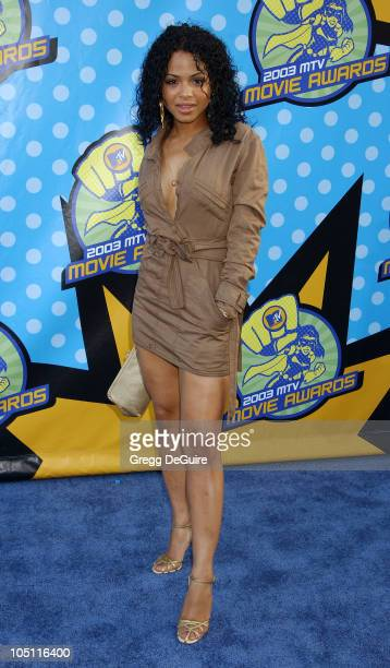 Christina Milian during 2003 MTV Movie Awards Arrivals at The Shrine Auditorium in Los Angeles California United States