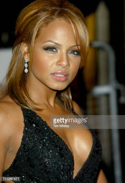 Christina Milian during 'Be Cool' London Premiere at Empire Leicester Square in London Great Britain