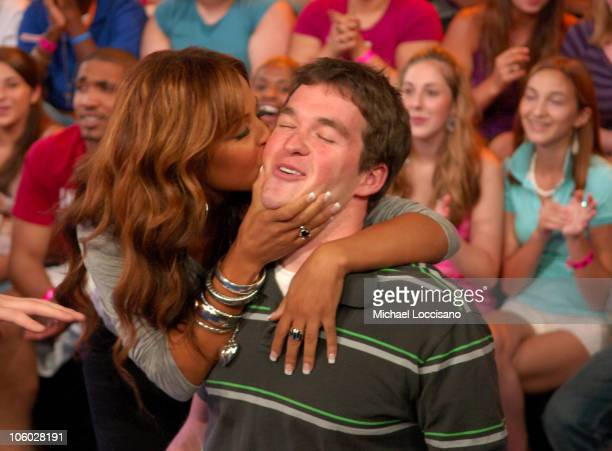 Christina Milian during Christina Milian Cassie and Andre 3000 Visit MTV's 'TRL' August 8 2006 at MTV Studios in New York City New York United States