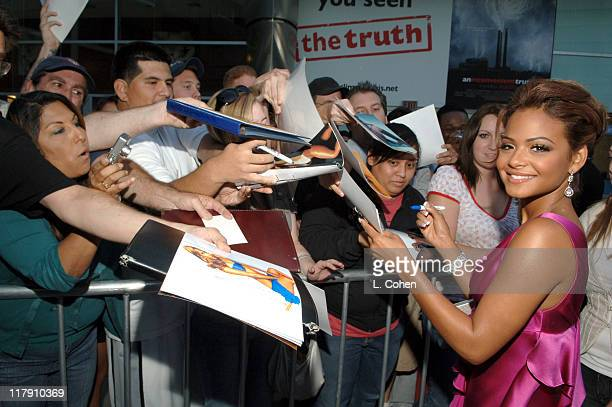 Christina Milian during 'Pulse' Los Angeles Premiere Red Carpet at Arclight in Hollywood California United States