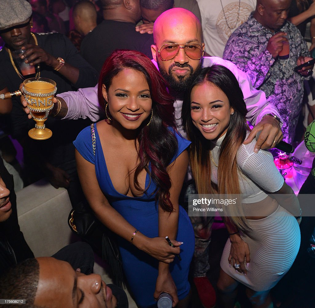 <a gi-track='captionPersonalityLinkClicked' href=/galleries/search?phrase=Christina+Milian&family=editorial&specificpeople=171274 ng-click='$event.stopPropagation()'>Christina Milian</a>, Kenny Burns and <a gi-track='captionPersonalityLinkClicked' href=/galleries/search?phrase=Karrueche+Tran&family=editorial&specificpeople=9447374 ng-click='$event.stopPropagation()'>Karrueche Tran</a> host party at Prive on August 9, 2013 in Atlanta, Georgia.