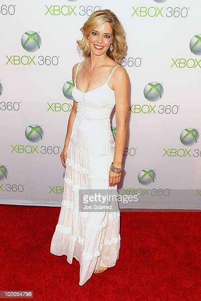 Christina Moore arrives to the World Premiere Of 'Project Natal' For Xbox 360 at Galen Center on June 13 2010 in Los Angeles California