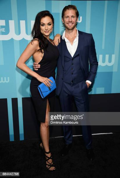 Christina Ochoa and Matt Barr attend the 2017 CW Upfront on May 18 2017 in New York City