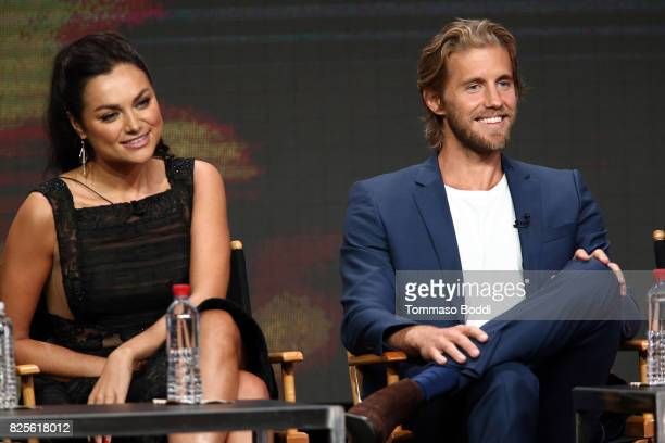 Christina Ochoa and Matt Barr attend the 2017 Summer TCA Tour CW Panels at The Beverly Hilton Hotel on August 2 2017 in Beverly Hills California