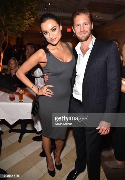 Christina Ochoa and Matt Barr attend The CW Network's 2017 party at Avra Madison Estiatorio on May 18 2017 in New York City