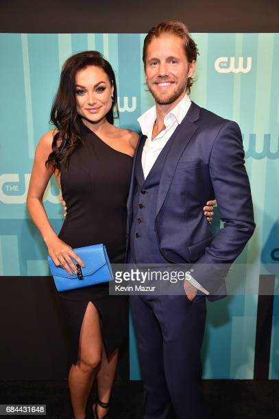 Christina Ochoa and Matt Barr attend The CW Network's 2017 Upfront at The London Hotel on May 18 2017 in New York City