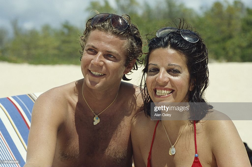 <a gi-track='captionPersonalityLinkClicked' href=/galleries/search?phrase=Christina+Onassis&family=editorial&specificpeople=206928 ng-click='$event.stopPropagation()'>Christina Onassis</a> and French pharmaceutical heir Thierry Roussel on their honeymoon in French Saint-Martin in March, 1984.