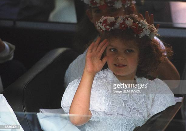 Christina Onassis And Her Daughter Athina OnassisRoussel On November 3Rd 2005 In France Here Athina At The Wedding Of Thierry Roussel