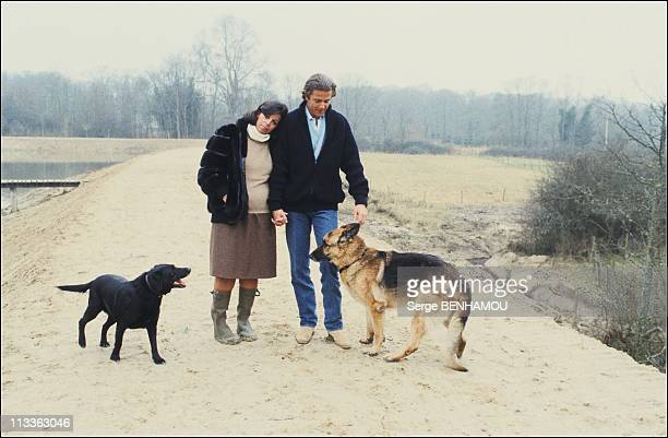 Christina Onassis And Her Daughter Athina OnassisRoussel On November 3Rd 2005 In France Here Thierry Roussel And Christina Onassis