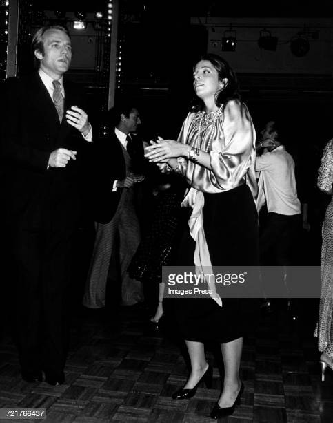 Christina Onassis and Jean de Yturbe dancing at Studio 54 circa 1977 in New York City