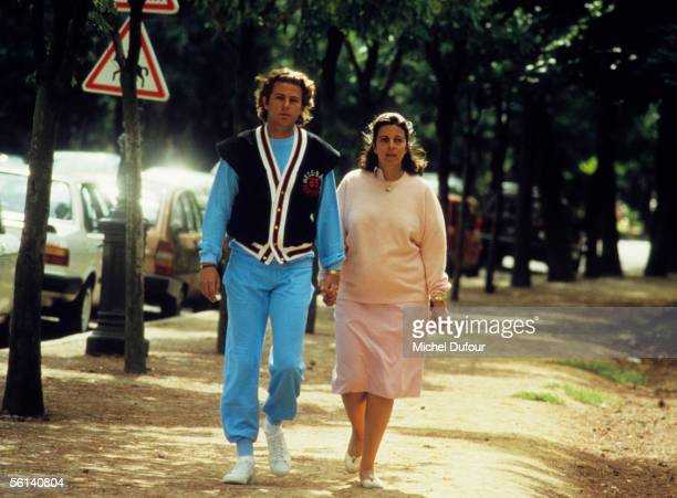 Christina Onassis daughter of Greek shipping magnet Aristotle Onassis takes an afternoon stroll with Thierry Roussel on Avenue Foch in Paris France