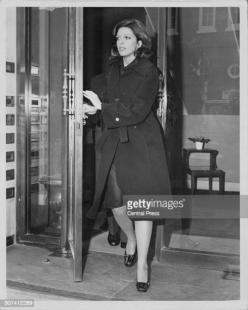 Christina Onassis leaving her mews flat in Mayfair London May 7th 1975