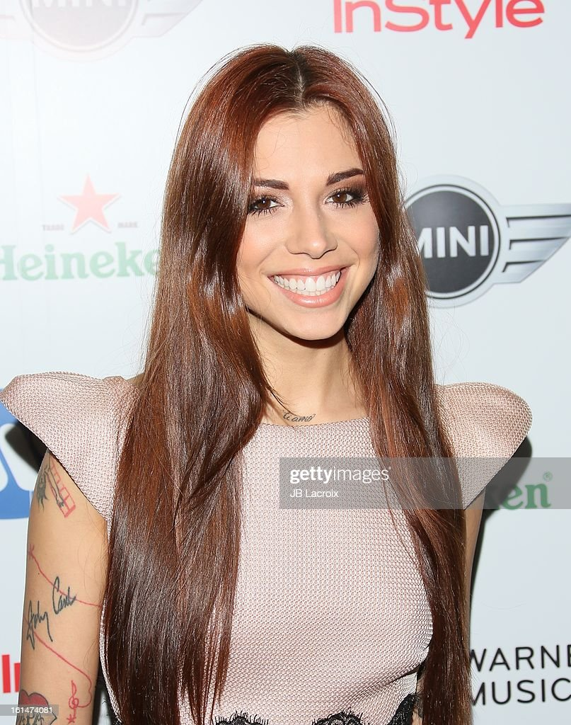 Christina Perri attends the Warner Music Group 2013 Grammy Celebration Presented By Mini held at Chateau Marmont on February 10, 2013 in Los Angeles, California.