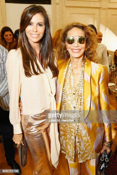 Christina Pitanguy and Marisa Berenson attend the Gyunel Haute Couture Fall/Winter 20172018 show as part of Haute Couture Paris Fashion Week on July...