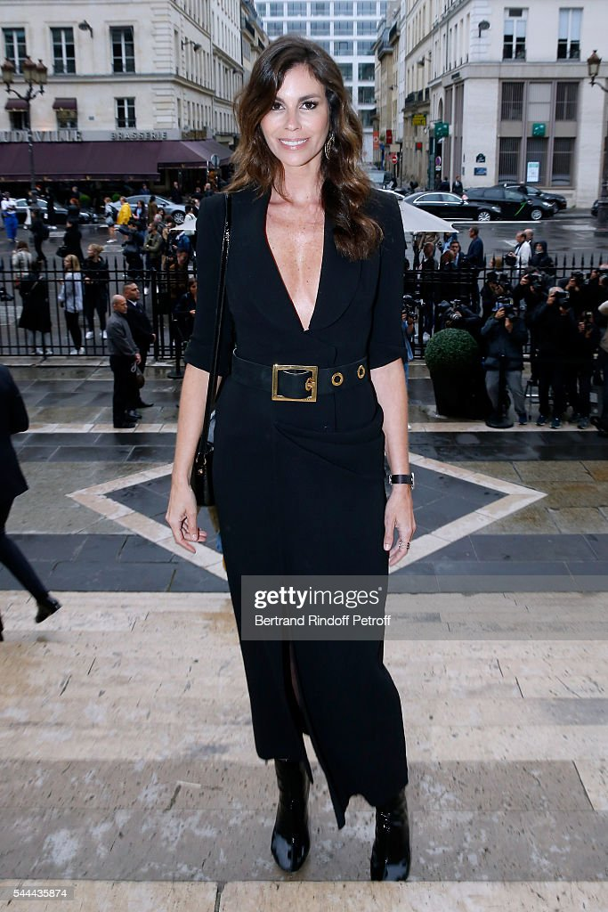 Christina Pitanguy attends the Atelier Versace Haute Couture Fall/Winter 20162017 show as part of Paris Fashion Week on July 3 2016 in Paris France