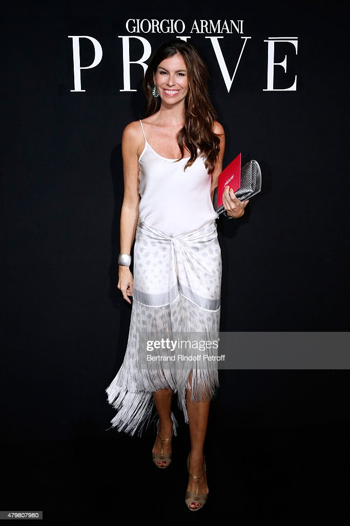 Christina Pitanguy attends the Giorgio Armani Prive show as part of Paris Fashion Week Haute-Couture Fall/Winter 2015/2016. Held at Palais de Chaillot on July 7, 2015 in Paris, France.
