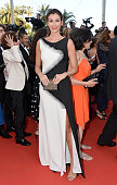 Christina Pitanguy attends the 'Julieta' premiere during the 69th annual Cannes Film Festival at the Palais des Festivals on May 17 2016 in Cannes...