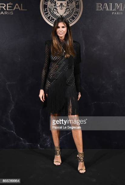 Christina Pitanguy attends the L'Oreal Paris X Balmain event as part of the Paris Fashion Week Womenswear Spring/Summer 2018 on September 28 2017 in...