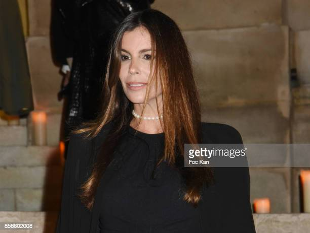 Christina Pitanguy attends The Vogue Party Outside Arrivals as part of the Paris Fashion Week Womenswear Spring/Summer 2018 on October 1 2017 in...