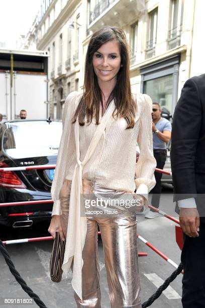 Christina Pitanguy is seen arriving at Elie Saab fashion show during the Paris Fashion Week Haute Couture Fall/Winter 20172018 on July 5 2017 in...