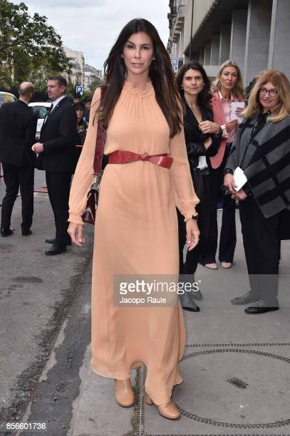 Christina Pitanguy is seen arriving at Giambattista Valli show during Paris Fashion Week on October 2 2017 in Paris France